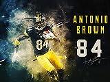 777 Tri-Seven Entertainment Antonio Braun Poster Pittsburgh Steelers Kunstdruck, Mehrfarbig, 61x 45,7cm