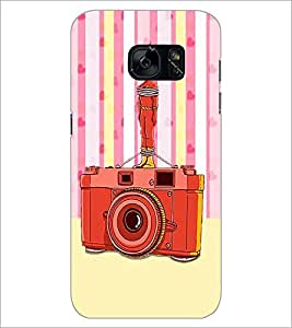 PrintDhaba Camera D-3908 Back Case Cover for SAMSUNG GALAXY S7 (Multi-Coloured)