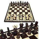 BAMBINIWELT Schachspiel, Schach, Schachbrett mit Figuren 42x42cm, handgeschnitzt