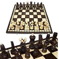 BAMBINIWELT-Schachspiel-Schach-Schachbrett-mit-Figuren-42x42cm-handgeschnitzt