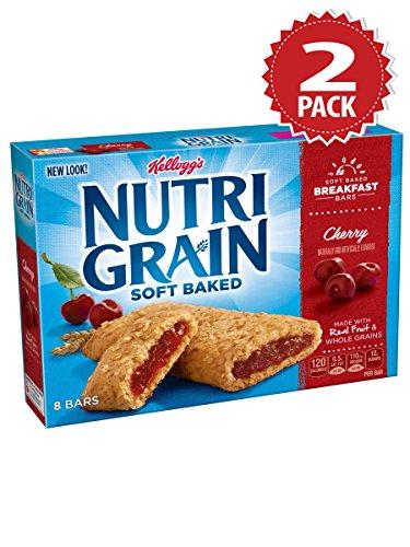 Nutri-grain Cereal Bars (Kellogg's Nutri Grain Cherry Cereal Bars - 2er Pack (2x295g))