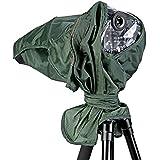 Neewer® Regen Abdeckung Regenschutz Kamera-Schutz für Canon Nikon Sony Pentax Olymp Fuji und andere Objektive bis 257mm Länge und 95mm Objektiv-Durchmesser DSLR-Kamera (Grün)