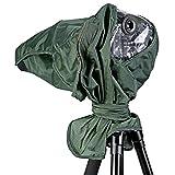 Neewer -  Telo Protettivo Impermeabile Antipioggia per Canon Nikon Sony Pentax Olympus Fuji ed Altre Lenti con Distanza Focale di 257mm e Diametro di 95mm per Fotocamera DSLR (Verde)