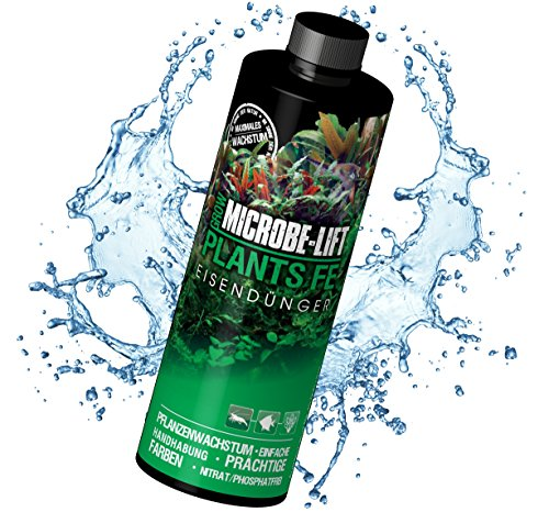 MICROBE-LIFT Plants FE – Flüssiger Eisen Dünger für Aquarium Pflanzen, hochkonzentriert, 236 ml - Pflanzen Süßwasser-aquarium