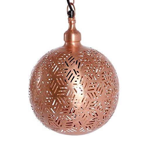 Emporio Arts EMPORIO marocain Lumières moderne fait main lamp-ball à suspendre en Hexa Etching, fer, cuivre, E27, 40 Watts