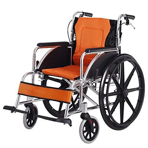 Transportrollstühle Reise Ultra Selbst Propel Rollstuhl Faltbarer Leichter Stuhl Abnehmbare Fußstützen Mit Hinterrad Ambulance Chair -