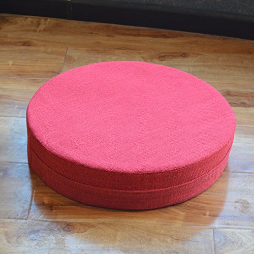 WDZA Le Coussin De Chaise Simple Office Étudiants Classe Pique-Nique Jardin Assise, 60X6Cm, Rouge