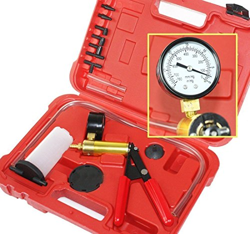 I_S IMPORT 2 In 1 Brake Bleeder & Vacuum Pump Gauge Test Tuner Kit Tools DIY Hand Tools