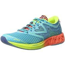 Asics Noosa FF, Zapatillas de Deporte para Mujer, Azul (Aquarium / Flash Coral / Safety Yellow), 37 EU