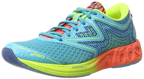 Asics Noosa Ff, Chaussures de Running Femme Multicolore (Aquarium/flash Coral/safety Yellow)