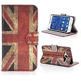 Kit Me Out ES Funda estampada apertura lateral cuero sintético para Samsung Galaxy Core Prime G360 - rojo / blanco / azul Bandera de Reino Unido Bandera Union Jack