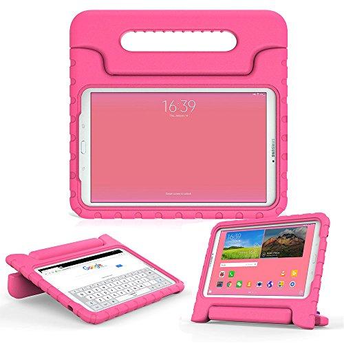 Samsung Galaxy Tab E 9.6 Kinderhülle, COOPER DYNAMO Beanspruchbare, strapazeirfähige, robuste, gepolsterte Hartschalenhülle mit integriertem Griff, Standfunktion & durchsichtigem Displaysschutz (Pink)