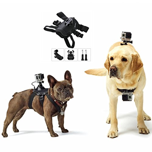 PULUZ GoPro Actionkameras & Zubehör - Halterungen - Fetch (Hundegeschirr) Brustgurt Gürtelhalterung Hound Dog Fetch Harness Verstellbarer Brustgurt Halter für GoPro HERO5 / 4 Session / 4/3 + / 3/2/1 Kameras