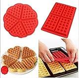 2 PC/Set Waffle Mold silicona horno cacerola para hornear galletas para tarta muffin cocina...