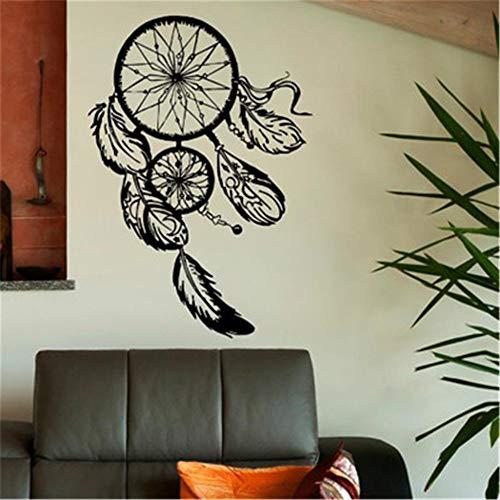 zzlfn3lv Atrapasueños de Vinilo Pegatinas de Pared decoración para el hogar Logotipo de Plumas India calcomanía Dormitorio Sala de Estar Etiqueta 58 * 82 cm