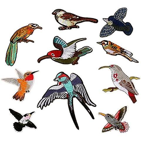 Oiseaux Collection brodée patchs à coudre ou Iron on patches multicolore