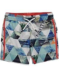Nautica Little Boys Kaleidoscope Seas Boardshorts - white
