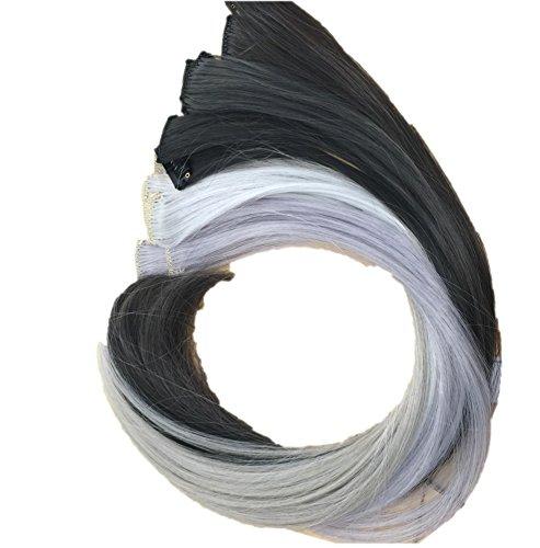 Prettyland - ghw08 extension per capelli multi-colore set da 12 pezzi posticcio clip-in liscio ciocche vasta - set 5
