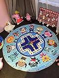BEAUTIFULNUHAI Für Christmas1.5m Baumwolle Teppich Runde Kinder Gym Rug Spielmatte Baby Spielzeug Beutel Baby Krabbeln Decke Outdoor Pad n
