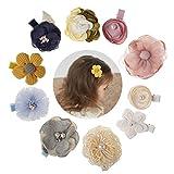 Tianhaik haarklemmen, bloemen, elastisch, 10 stuks