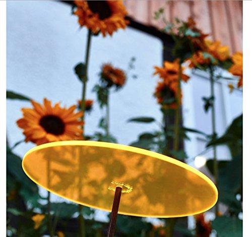 Cazador-del-sol ® | Uno | Sonnenfänger gelb, Durchmesser 20 cm, 1,75 Meter hoch – das Original - 3