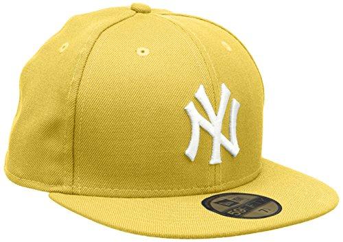 New Era Erwachsene Baseball Cap Mütze MLB Basic NY Yankees 59 Fifty Fitted, Cyber Yellow/White, 7 3/8, 10011614