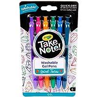 Crayola Washable Gel Pens In Jewel Tones, Office & School Supplies, 1.0Mm Medium Pt, 6Count