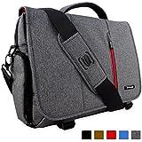 Laptoptasche, Snugg - Graue Notebooktasche - Umhängetasche für Laptops mit einer Bildschirmdiagonale von bis zu 15.6 Zoll