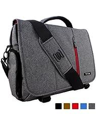 Sac Ordinateur, Snugg Sac Besace PC Sacoche Travail En Cuir Noir Pour Laptop Portable Et Tablette