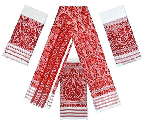 Gamusa-Handloom Items (Towles) of Assam (Combo of 2)