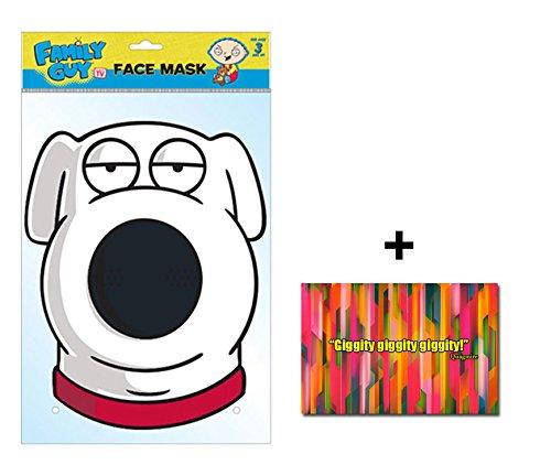 Brian The Dog Offical Family Guy Single Karte Partei Gesichtsmasken (Maske) Enthält 6X4 (15X10Cm) (Für Guy Kinder Kostüme Family)
