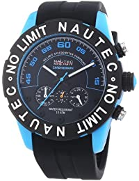 Nautec No Limit Herren-Armbanduhr XL Zero-Yon 2 Chronograph Quarz Kautschuk ZY2-H1 QZ/RBPCBKBK-BL