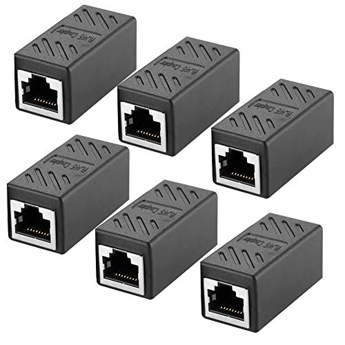 6Pack Adaptador RJ45 Cable Red Ethernet Cat5/CAT6