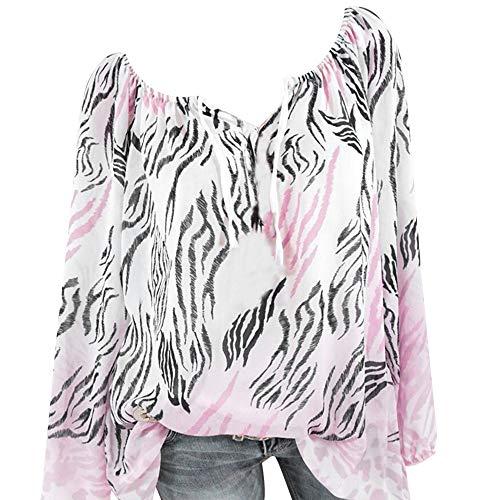 Oberteile,Neu V-Ausschnitt Aus der Schulter Bandage Leopard Drucken Große Größen Einfach Tops Bluse T Shirt Räumungsverkauf XS-5XL ()