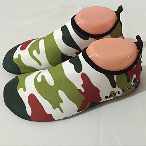 kasit Unisexe Barefoot Chaussures peau d'eau pour bain de plage Surf Yoga d'exercice Vert