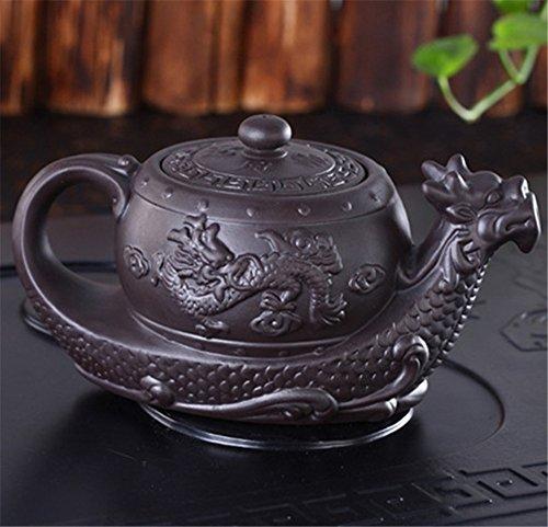 Dragon Tea Pot Teekanne Chinese Yixing lila Ton Teekanne, raditional Dragon Teekanne Big Kapazität handgefertigt Clay Tee-Set Wasserkocher Kung Fu Teekanne