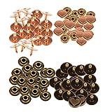 Baoblaze 100 Sätze Herz Nieten Ziernieten Dekoration Lederhandwerk
