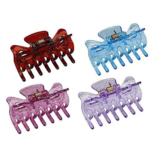 Mokale 4pcs Mini mollette Mix colorato farfalla design in plastica non Slip capelli clip artiglio accessori per capelli per donne/ragazze/ragazzi - Tiara Kit Craft