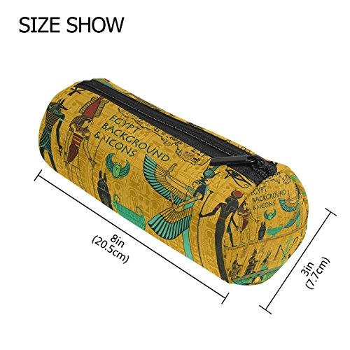 coosun Set des Alten Ägyptischen Gottheiten Schlampermäppchen Zylinder Form Stift Stationery Tasche Bag Kosmetik Make-up Tasche M Set Of Ancient Egyptian Deities (Ägyptische Baumwolle Spielzeug Tasche)