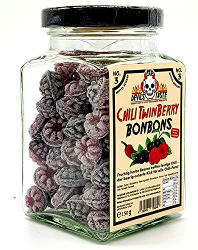 Chili im Glas Twin Berry Bonbon Blaubeere und Himbeere scharf 150g TOP