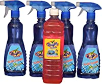 Right Choice Glass Cleaner Liquid, 500 ml (Pack of 4) and Right Choice Vehicle Wash Liquid, 500 ml, (Combo of 5)