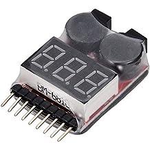 KIMILAR 1-8s Spannung Lipo Akku Alarm Checker Anzeiger Tester