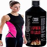 L-Carnitin XXX Liquid, 110.000mg / 1L Flasche, Fettverbrennung Abnehmen Diät + hochwertiges Sportstyle Damen T-Shirt (S)