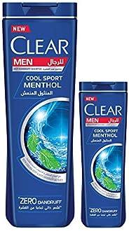 Clear Men's Anti-Dandruff Shampoo Cool Sport, 400 ML + Clear Assorted Shampoo 2