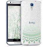 kwmobile Funda para HTC Desire 620G - Case para móvil en TPU silicona - Cover trasero Diseño sol indio en menta blanco transparente