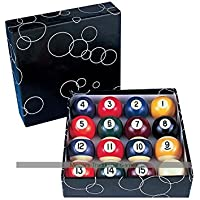 Economy Engraved Pool Balls - 2 and 1/4 inch - Spots and Stripes