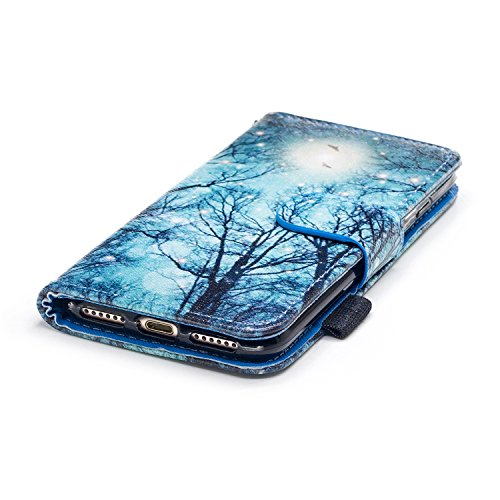 iPhone 7/iPhone 8 Coque de Luxe,iPhone 7/iPhone 8 Case Bookstyle,Hpory Neo élégant Luxe PU Cuir Solid Color Papillon en Relief Motif Book Style Folio Stand Fonction Support PU Leather Walllet Case wit 4