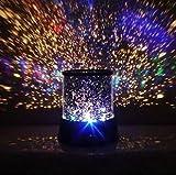 Innoo Tech** LED Nachtlampe, Projektorlampe mit farbiger Nachthimmel-Szene, Nachttischlampe mit USB-Kabel