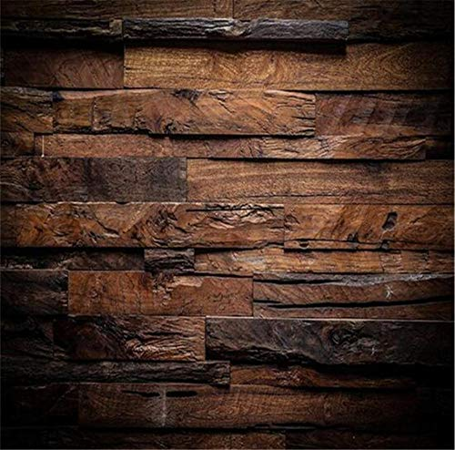 GBHL Tapete Hintergrund großes Gemälde Retro nostalgische Holzpaneele Wandbild Hotelzimmer für Wohnzimmer, 250x175 cm (98.4 von 68.9 in)