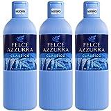 3x Felce Azzurra Classico Badeschaum Schaumbad 650 ml bath shower foam